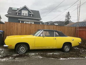 Rare 1969 Chrysler Barracuda Convertible. Only 1200 made.