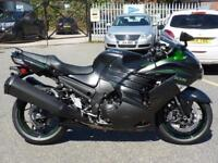 KAWASAKI ZZR1400 2018 MODEL METALLIC CARBON GREY/EMERALD BLAZED GREEN
