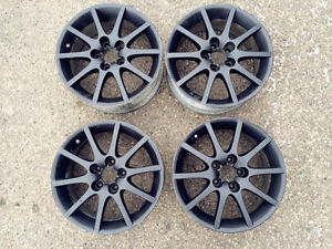 16'' A set of 4 Matt Black Rims Super Cool Edmonton Edmonton Area image 1