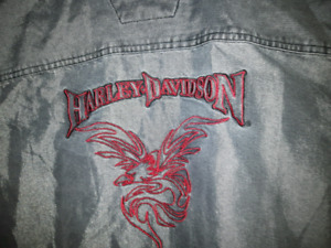 Harley Davidson Shirt  L , insignia on front and back