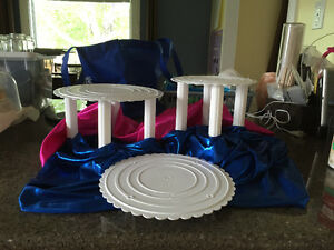 3 Tier Premade Cake Stand with gum paste Flower topper included! Strathcona County Edmonton Area image 4