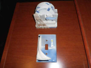 SAILBOAT SWITCH PLATE AND COASTERS