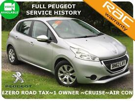2012 Peugeot 208 1.4HDi Access+ ZERO TAX~1 Owner~Full History~Finance Available