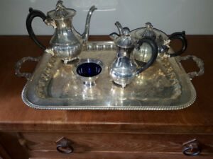 Silver plate tea/coffee service, beautiful