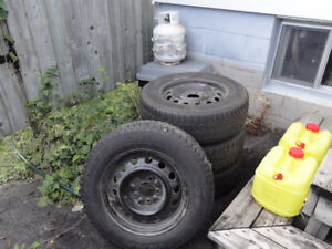 four winter tires on rims for sale