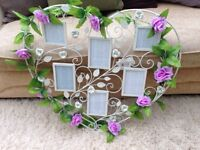 Vintage heart wedding table plan