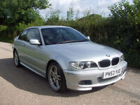 2003 53 Plate BMW 318 2.0 Ci Sport In Silver , Only 52,000 Miles With Fsh
