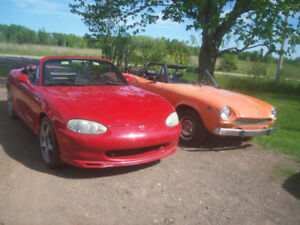 1974 Fiat Spider Convertible/also 2000 Miata/01 Shadow/etc.