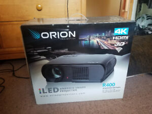 ORION R400 3D Android Smart Projector (NEW + Projector Screen)