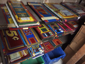 Slot Machine Glass LARGE LOT  Replacement/ crafts /re purpose