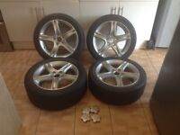 Lexus is200 is300 17 Alloy wheels 225 45 17 just painted 114.3 refurbished alloys is 200 is 300 Px