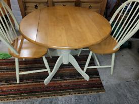 Pine drop leaf table set