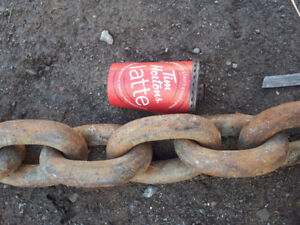 EXTREMELY HEAVY DUTY CHAIN (15FT) ALSO HAVE CLEVIS