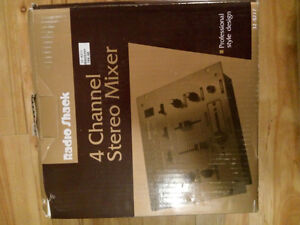 Unopened 4 Channel Stereo Mixer