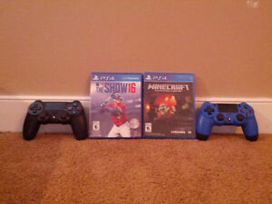 PS4 controllers and games-mint condition