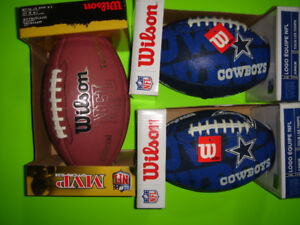 4 New Footballs (2 Junior, 2 Official Size) Brand New