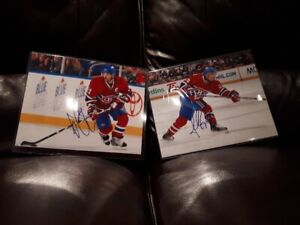 Autographe Habs Gionta Gorges / Signed Montreal Canadiens