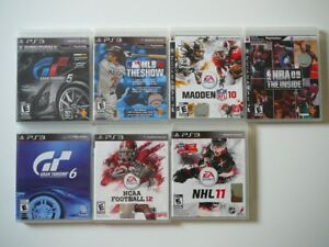 7 x Video Games for Sony Play Station 3 ( seven games )