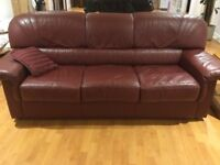 Oversized luxurious Italian leather couch/loveseat/chair