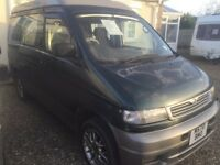 Mazda bongo with electric roof and rock and roll bed
