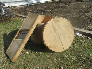 Cabbage Slicer and Cheese Wheel Crate