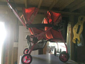 Double jeep doll stroller