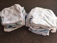 30 baby boy bodysuits bundle