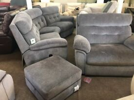 SCS DESTINY CURVED corner sofas and love seat Brand new