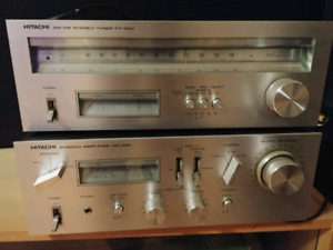 Hitchi Stereo Amplifier HA-330 with Stereo Tuner FT-340