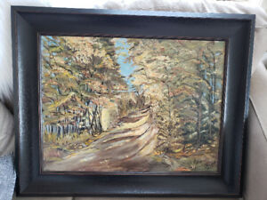 Beautiful oil painting signed L. Nelson