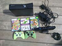 Xbox 360 and Kinect plus games