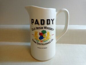 VINTAGE PADDY IRISH WHISKEY ADVERTISING JUG PITCHER