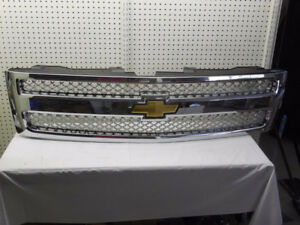 07-11 Silverado Chrome Mesh GRILLE GRILL - part # 19166685  OEM