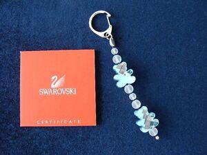 "Brand New ""Swarovski"" Blue Crystal Bear Shape Key Chain $45"