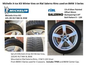 Michelin X-Ice Xi3 Winter tires on Rial Salerno Rims used on BMW