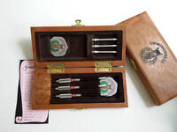"""""""Thoroughbred"""" and """"Olde English""""darts - set of 3 in case"""