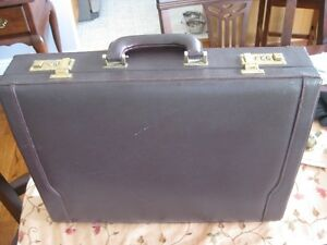 Leather Attache' Case - Burgundy Leather