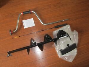 "Normark 8"" hand ice auger w/Rapala Rod BRAND NEW"