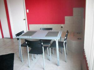 Ikea dining table and 4 chairs