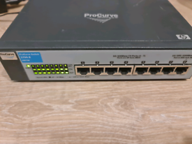 HP Procurve 1700-8 Network Switch