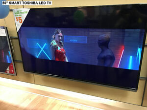 "TOSHIBA 50"" SMART LED TV'S – STARTING AT $400.00"