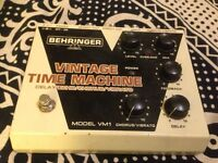 behringer vintage time machine analogue delay/echo/chorus/vibrato pedal