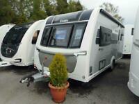 2018 Elddis Riva 462 - 2 Berth rear washroom touring caravan