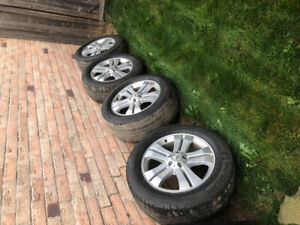 """Mercedes Benz SUV 19"""" rims with very used tires. 265/55/19"""
