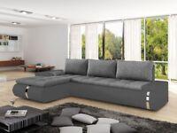 Corner Sofa Bed FADO MINI Grey Left Special Offer