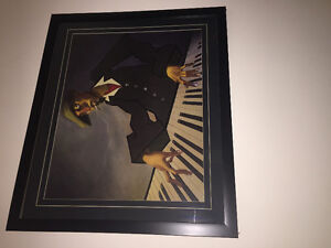 2 Large Paintings with Frames -Artist, musicians, urban