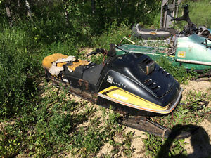 Another snowmobile in the yard