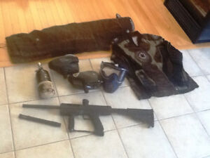 Paintball gun and equipment for sale