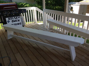 White Benches 8.5ft long