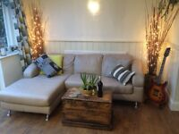 Leather settee REDUCED